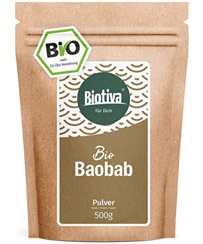 Baobab Pulver Bio (500g) - Biobaobab in Premium Bio-Qualität - Apothekerbaum - Affenbrotbaum - Affenbrotbäume -Adansonia - Kontrolliert und abgefüllt in Deutschland (DE-ÖKO-005)