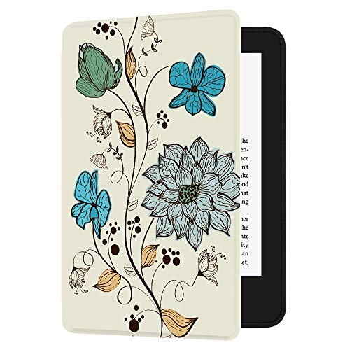 Huasiru Pintura Caso Funda para el Nuevo Kindle (10ª generación - Modelo 2019 - no es aplicable a Kindle Paperwhite o Kindle Oasis) Case Cover, Las Flores