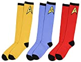 Star Trek Socks Uniform Knee High Costume Dress Adult Men Women (3 Pack)