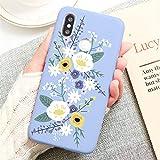 Flor, funda de teléfono de silicona fresca y linda, adecuada para la contraportada de la carcasa del teléfono Xiaomi