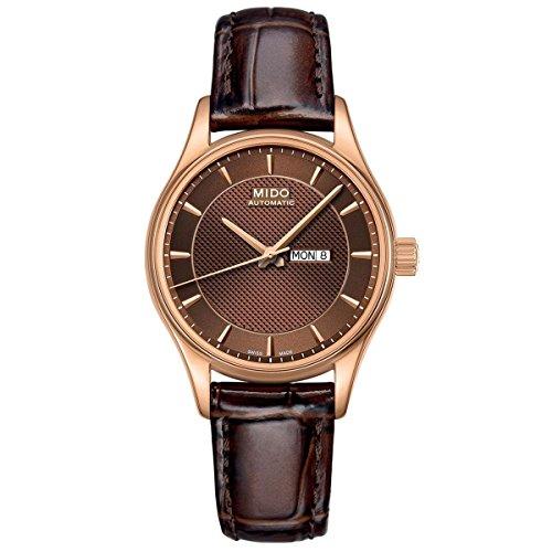 Mido Belluna orologio da uomo XL analogico automatico pelle M0014313629112