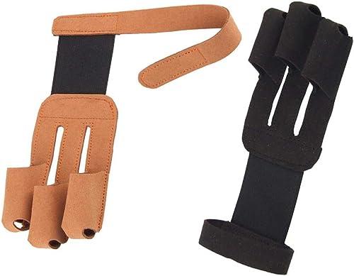 BENPAO 2Pcs tir à l'arc Gant Unisexe 3-Finger Anti-dérapant Traditionnel Arc et flèche Doigt Prougeecteur Couverture Gear de Prougeection avec Velcro pour l'extérieur Traditionnel tir à l'arc