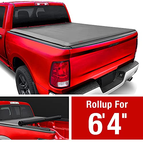 MaxMate Soft Roll Up Truck Bed Tonneau Cover Compatible with 2002-2018 Dodge Ram 1500   2019-2022 Classic Only   Fleetside 6'4″ Bed   Without RamBox