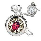 Cioaqpyirow Ladybug Pocket Watch Necklace,Ladybug Pocket Watch Necklace,Bug Pocket Watch Necklace,Friendship Pocket Watch Necklace,Bridesmaid Gift,peralized Jewelry,HO0E75