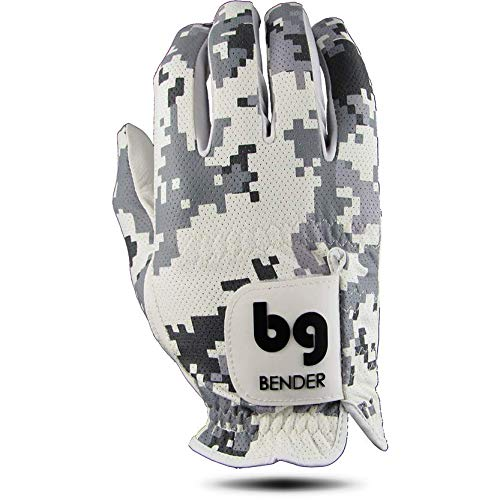 Bender Gloves Mesh Golf Gloves Men, Cabretta Leather, Worn on Right Hand (Digital Camo, Large)