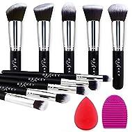 Makeup Brushes, BEAKEY Makeup Brushes Sets Professional Premium Synthetic Foundation Brushes, Blendi...