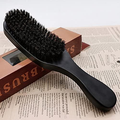 Spazzola da barba normale, multifunzione, setole morbide di cinghiale di cinghiale, morbida spazzola per barba da uomo, colore nero