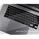 "Ultra Thin Keyboard Cover for 2020 Newest MacBook Pro 13 inch A2338 (M1) A2289 A2251 & 2020 2019 New MacBook Pro 16 inch… 9 COMPATIBILITY: The Keyboard Cover perfect fit for 2020 Newest MacBook Pro 13"" with Apple M1 Processor Model A2338 (M1) A2289 A2251 with Magic Keyboard and New Macbook Pro 16 Inch 2020 2019 Release Model A2141 with Touch Bar Touch ID Keyboard Cover Skin (NOT for other models), US Keyboard Layout. HIGH-GRADE TPU MATERIAL: Made with premium engineering grade TPU material, soft and flexible, healthy and environment friendly. ULTRATHIN & SLIM: Ultra thin 0.13mm thickness to minimize typing interference, high transparency film allows backlight keyboard to shine through."