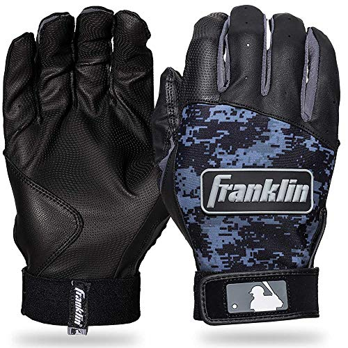 Franklin Sports MLB Digitek - Guanti da baseball Digi, taglia L, colore: Nero/Nero