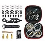 FOX SMILING 145 Pieces Dart Tool Kit with Steel Rubber O Ring, Stone Sharpener Dart Repair Accessories Set Flight Protector and Weight Add A Grams,Small Packaging Easy Carrying (145 Pieces)