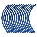 Qiilu Autocollant Jante Pneu Bande réfléchissante 6 Color pour Moto Vélo Voiture(Bleu)…