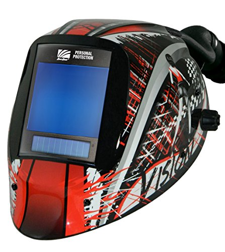 ArcOne AP-X81VX-1523 Vision Welding Helmet Shell with X81VX XTreme 5 x 4' Digital ASIC and X-TIG Auto-Darkening Filter and AirPlus Respiratory System, Speedway