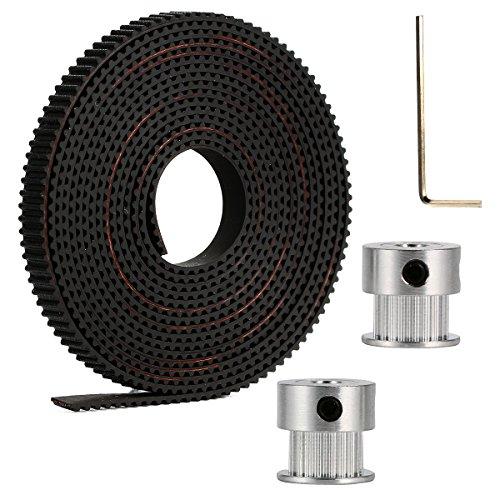 XCSOURCE Accessori per stampanti 3D: 2X GT2 20T Timing Pulleys + 2m GT2 Timing Belt per RepRap 3D Drucker Prusa i3 TE378