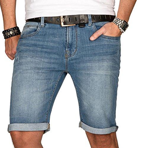Indicode Herren Sommer Jeans Shorts Kurze Hose Sommerhose Short Bermuda B556a [B556a-Hellblau-Gr.XL]