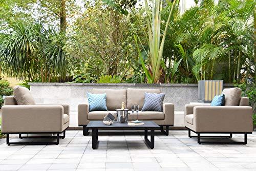Fenetti Ethos - Juego de sofá de 2 plazas para exteriores, color gris