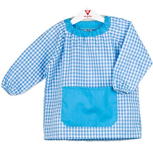Klottz - Grembiule a poncho, senza bottoni, per neonati e bambini turchese Taglia unica