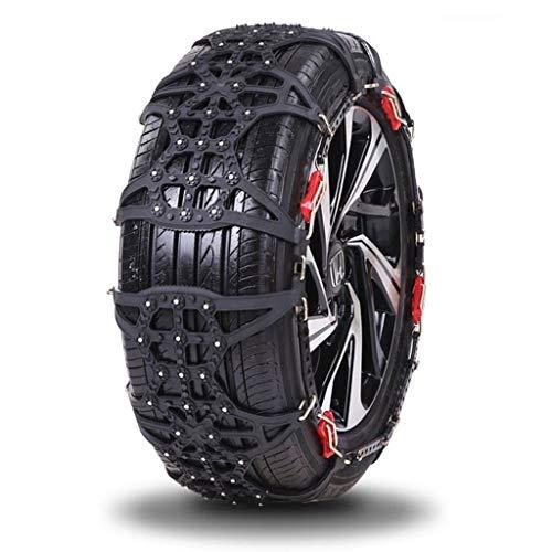 LXESWM Sneeuwkettingen - Anti-Skid Easy to Fit Winter Grip autobanden sneeuwketting dikke tendon TPU voor auto off-road, zwart