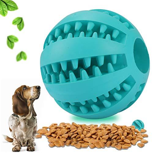 Sinwind Hundeball, Ungiftiger Bissbeständig Hundeball mit Zahnpflegefunktion, Dog Snack Feeder reinigt die Zähne, um Zahnstein und Zahnbelag zu vermeiden, Geeignet für kleine und mittlere Hunde (5cm)
