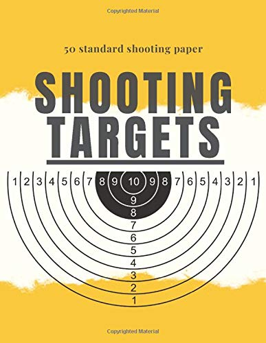 50 standard shooting targets paper: standard target sheets for shooting, 50 paper with perfect size 8.5 x 11 inch for Gun, Rifle, Pistol, Airsoft, BB ... aim, also could be as logbook for gun lovers