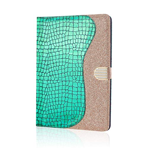 XFDSFDL Protective Cover for Apple iPad Pro 11 (2020) (11 Inch) PU Leather Flip Case Diamond Glitter Design with Built Stand Magnetic Closure Holster Wallet Device Shell, Green