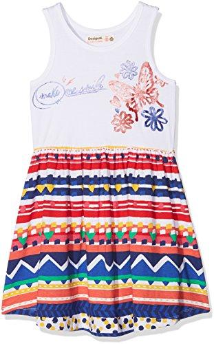 Desigual Mädchen Vest_Jacksonville Kleid, Weiß (Blanco 1000), 140 (Herstellergröße: 9/10)