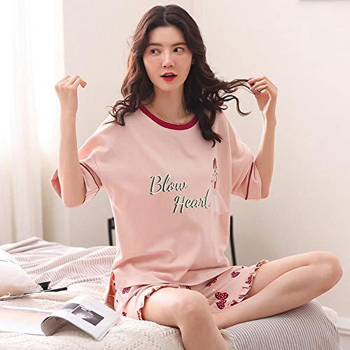 uwant:)sexy clothes Pyjamas Frauen Sommer Baumwolle Kurzarm niedlichen zweiteiligen Anzug Dünnschliff kann außerhalb zu Hause Service @ L_9104 getragen Werden
