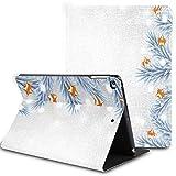 Estuche para iPad de 9,7 Pulgadas, Ramas de árbol de Navidad Blancas sobre Soporte nevado y Delgado, Carcasa Trasera rígida, Carcasa Protectora Inteligente con Reposo/Despertador automático