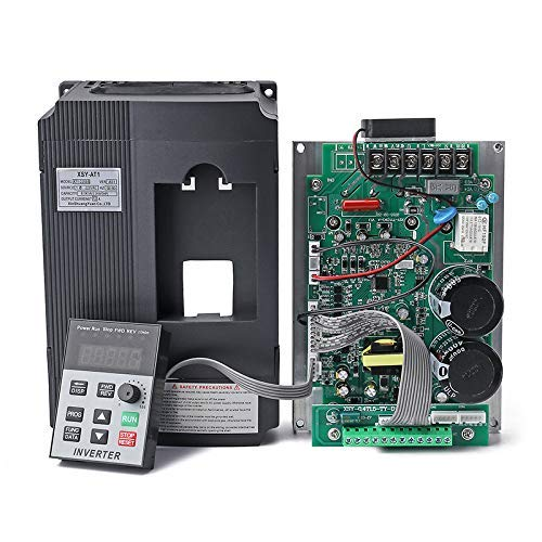 AC 220V/2.2KW Variable Frequency Drive, 12A VFD Inverter Frequency Converter for Spindle Motor Speed Control (Single-phase Input, 3 Phase Output)