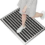 Fußmatte außen grau 40 x 60 cm, Aluminium Fußmatten, Fußabtreter außen, Schmutzfang Alu, Schmutzfangmatte Außenbereich, Fussmatte Aussenbereich, Türmatte außen, Fußabstreifer Hauseingang, Abtreter