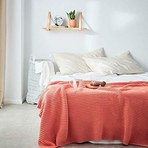 Telihome Acryl Dicke gestrickte Decken für Schlafsofas dekorative Geschenk Büro Nap Flugzeug Decken Tagesdecke