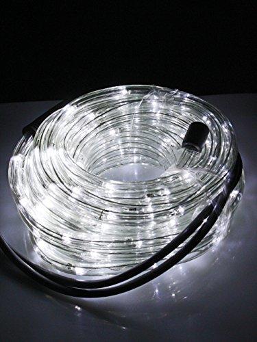 Tubo a led luminoso per natale luci natalizie per esterno e interno impermeabile 20 metri 480 led luce bianca fredda con controller ( 24 led x Metro )