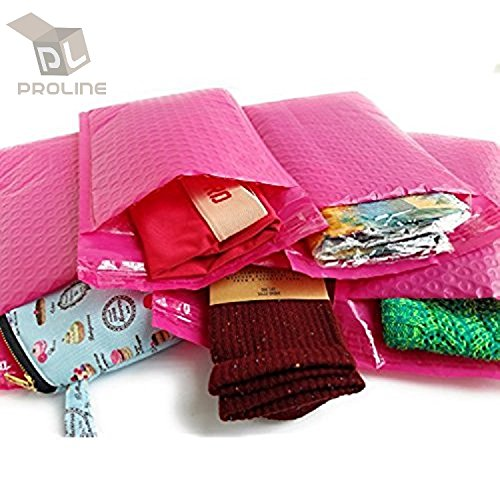 BESTeck Hot Pink Poly Bubble Mailers - 8.5X12 Inch Self Adhesive Padded Bubble Mailers