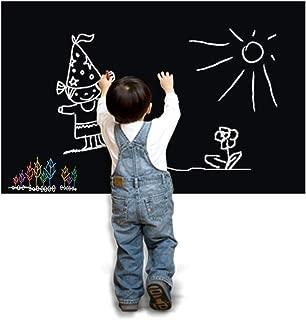 Vinilo Pizarra Adhesiva Negro de Pared Vinilo L/ámina Pizarr/ón Autoadhesiva Vinilo Flexible a Oficina Casa Escolar F/ácil Escribir y Borrar Con Cinco Tizas de colores Gratis 44.5 200cm