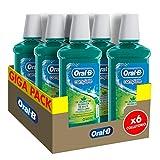 Oral-B Complete Collutorio Antibatterico Senza Alcol, Combatte L'Alito Cattivo, Maxi Pacco da 6 x 500 ml