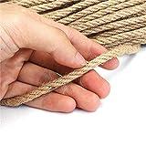 Modis Cuerda de Yute Natural, Hilo de cáñamo Resistente, 6mm / 8mm / 10mm, Cuerda Trenzada, Cuerda de macramé, decoración Hecha a Mano DIY, rascado de Mascotas