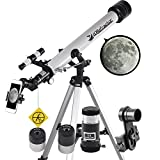 Telescope 60mm Apeture 700mm AZ Telescope - Refractor & Travel Scope for Beginners and Kids to...