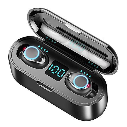 Auriculares inalámbricos TWS con pantalla LED, impermeables, con Bluetooth 5.0, con micrófono integrado