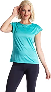 LaSculpte Womens Activewear Sports Tees Short Sleeve Running Fitness Yoga Tee Tops Cool Dri Fit Workout T- Shirt, 10-16