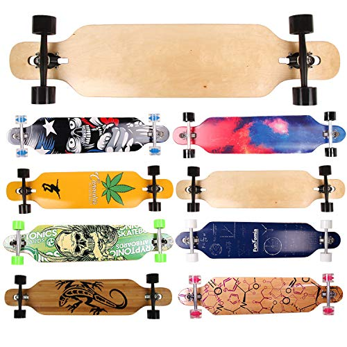 FunTomia Longboard | Drop-Through Cruiser | Compleet board met Mach1 High Speed kogellagers