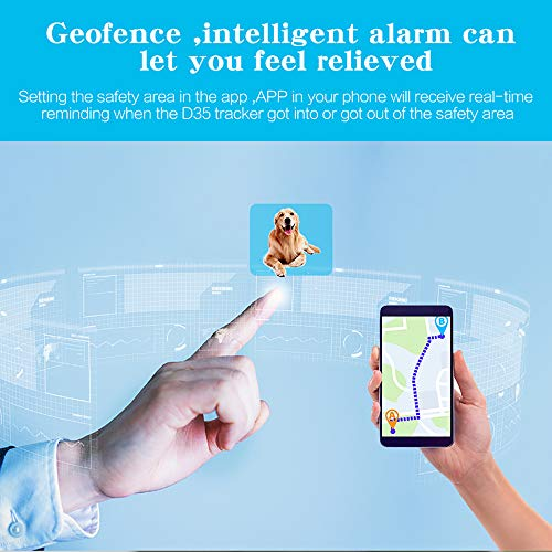 SNAWEN Impermeabile Pet Mini Smart Tracker GPS Collare per Cani da Compagnia Gatti Localizzatore di localizzazione Dispositivo di localizzazione GPS Tracciante Originale Perso-Nero