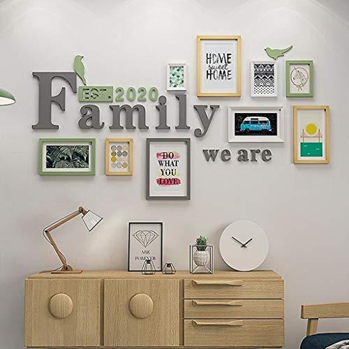 DENGJU Foto Rahmen Familie Collage Massivholz Kombination Wohnzimmer Bilderrahmen Wand Kreative Restaurant Hintergrund Wand Dekoration (Farbe : B)