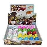 Yeelan Huevos de Dinosaurio Dino Dragon Hatching Growing Hatch Grow Egg para niños / niños pequeños / educación Infantil / Escolar (30pcs, Mezcla de Color de Crack)