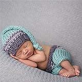 Sqklv Neugeborene Fotografie Requisiten Häkeln Hut Hosen Baby Fotografie Kleidung Gestrickt Baby Hosen Und Hut