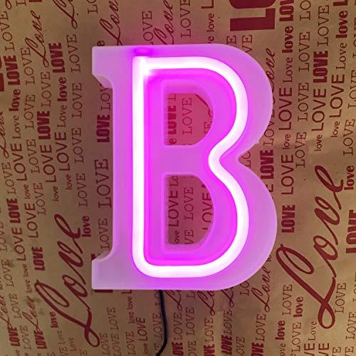 QiaoFei Beleuchtetes Festzelt, Buchstaben, Neonschilder, rosa Wanddekoration, Tischdekoration für Zuhause, Bar, Weihnachten, Geburtstag, Party, Valentinstag, Buchstaben, Rosa