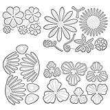 GORGECRAFT - Plantillas de corte de flores en 3D de acero al carbono para hacer tarjetas, plantillas de metal en relieve para manualidades, álbumes de fotos, álbum de fotos