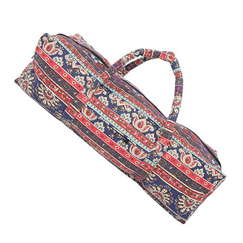 Bediffer Sac de rangement pour yoga, gym, sac à bandoulière, tendance, pour loger les tapis de yoga pour ranger les outils de fitness pour éviter de perdre des articles (rouge asiatique)