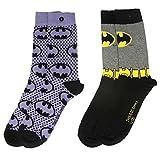 DC y1h416Batman–Logo und Anzug 2Pack Damen Socken (Größe 4–7) One Size