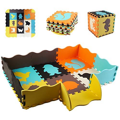 deAO Puzle Gigante de Gomaespuma Tapete Infantil para Salas de Juegos y para Aprendizaje Creativo Infantil Conjunto de 24 Piezas