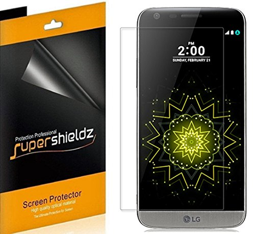 (6 Pack) Supershieldz for LG G5 Screen Protector, High Definition Clear Shield (PET)