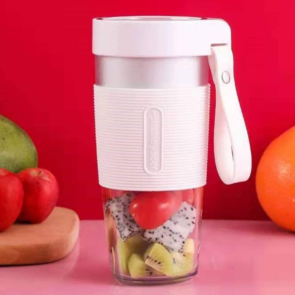 ECSWP Fruit Machine de mélange Blender Portable Personal Blender Voyage Cup Juicer rechargeable (Color : White) Pink